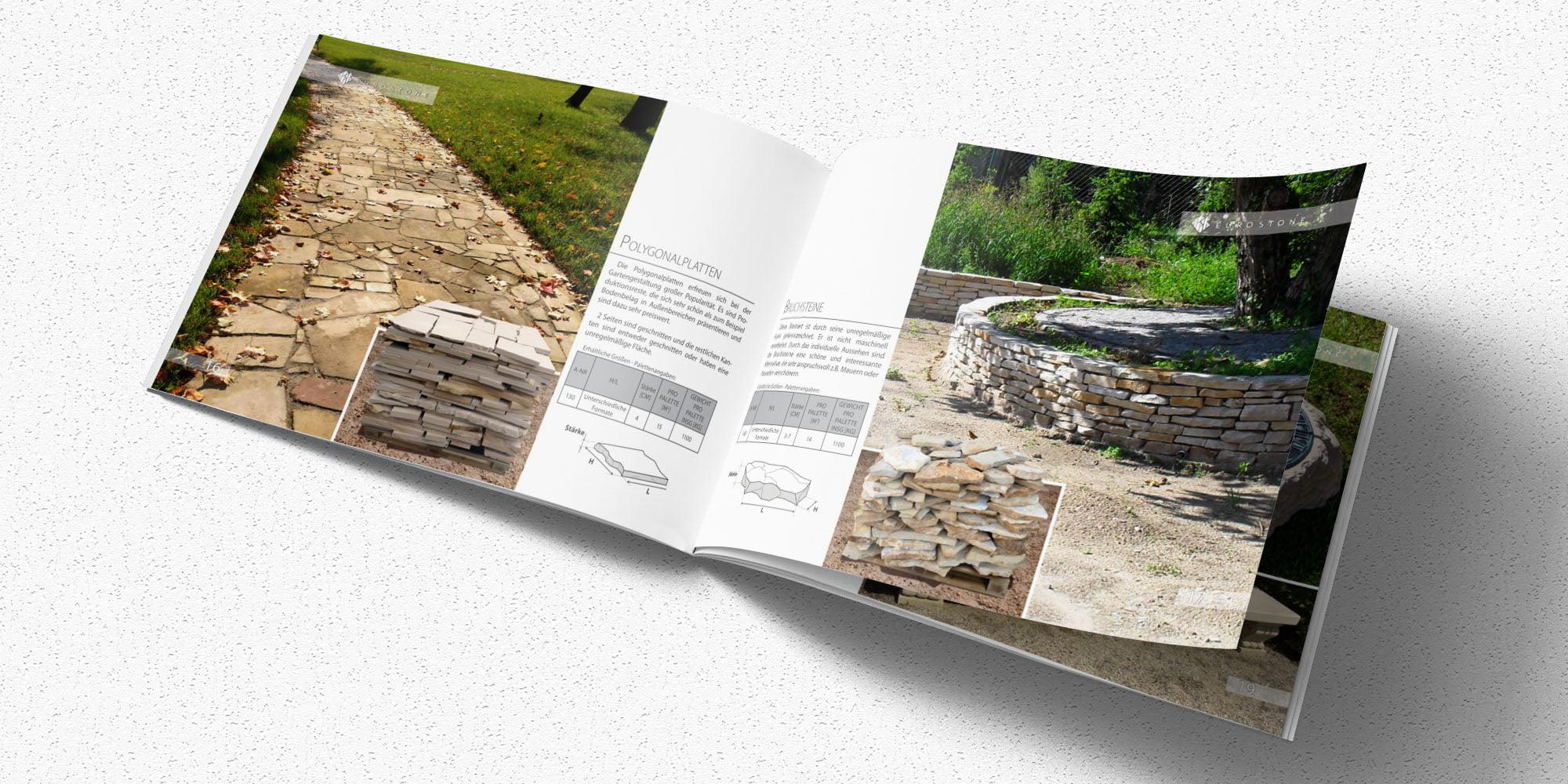 Katalog A5 Eurostone projekt okładki Sto15.pl Autor: Piotr Ratuski
