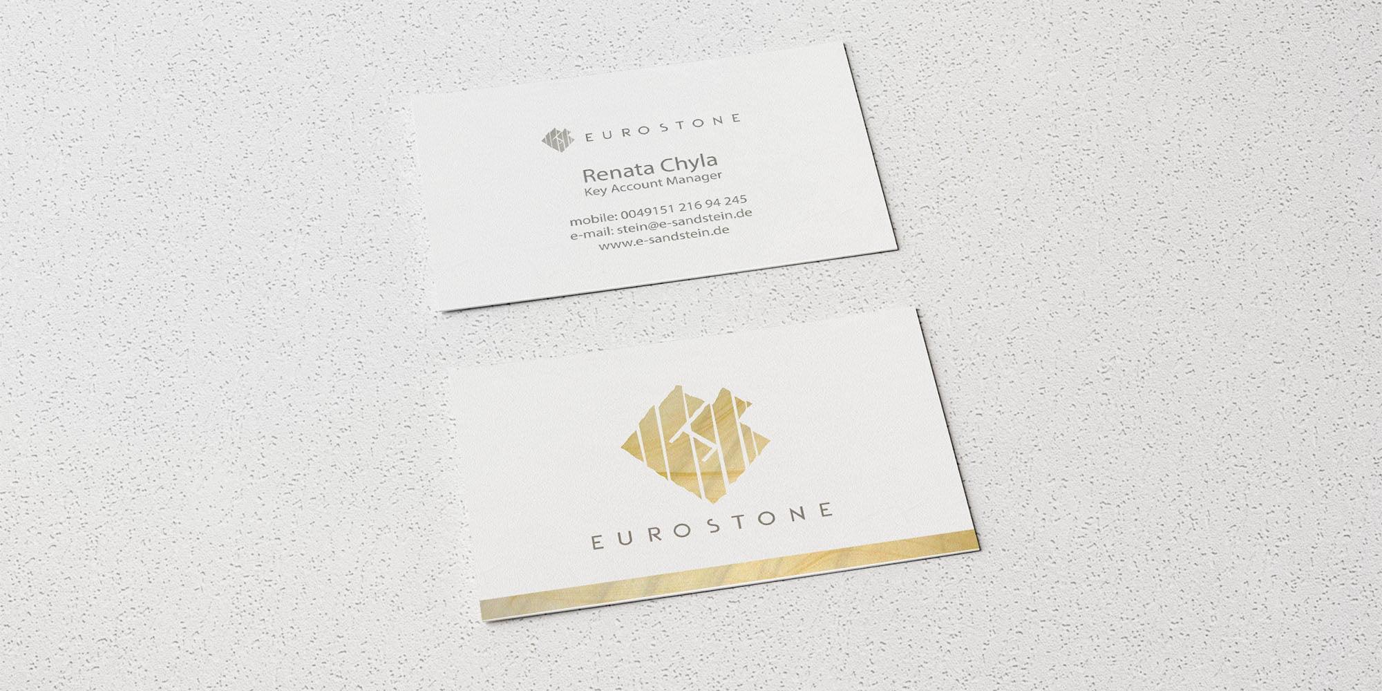 Wizytówki Eurostone Realizacja Sto15.pl Autor: Piotr Ratuski