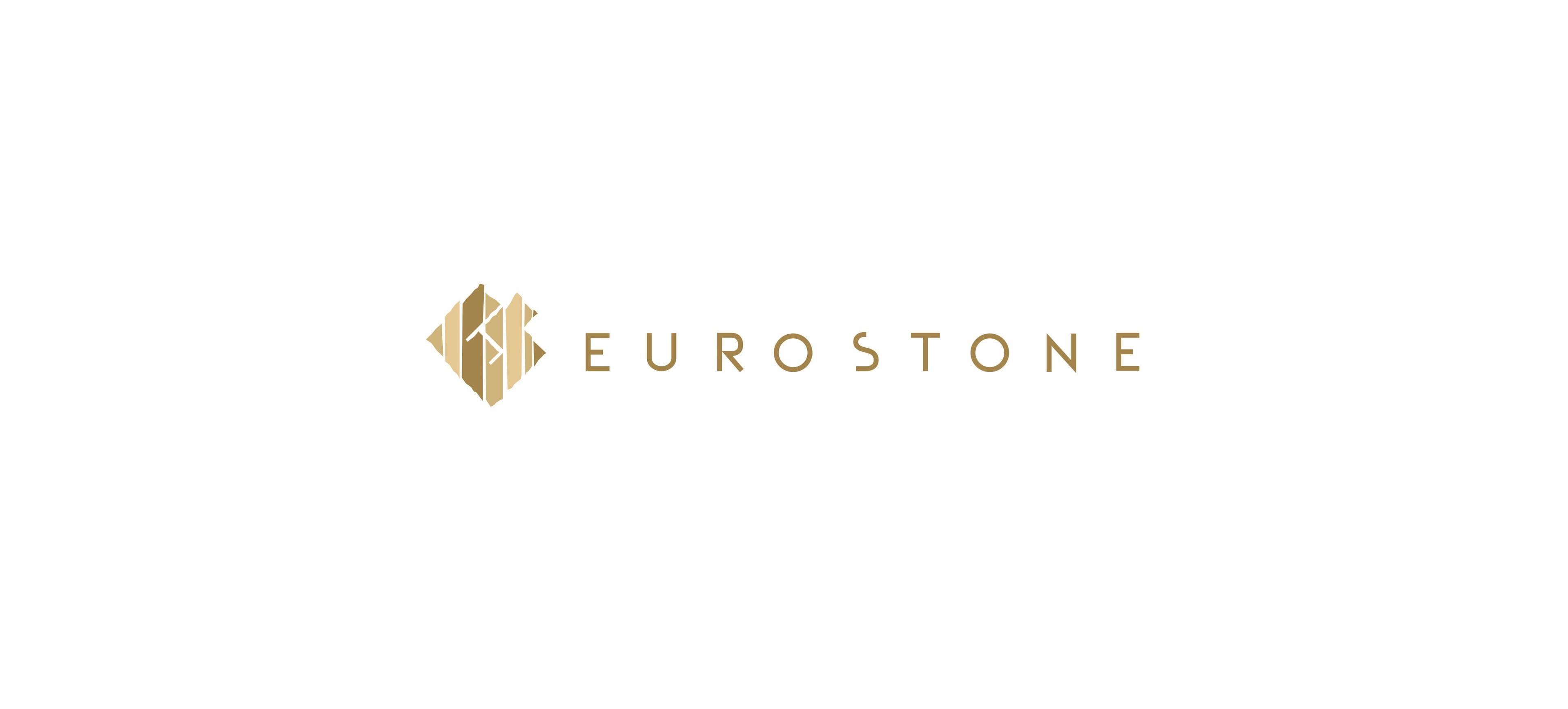 Logo Eurostone wersja pozioma Realizacja Sto15 Studio Projektant Piotr Ratuski