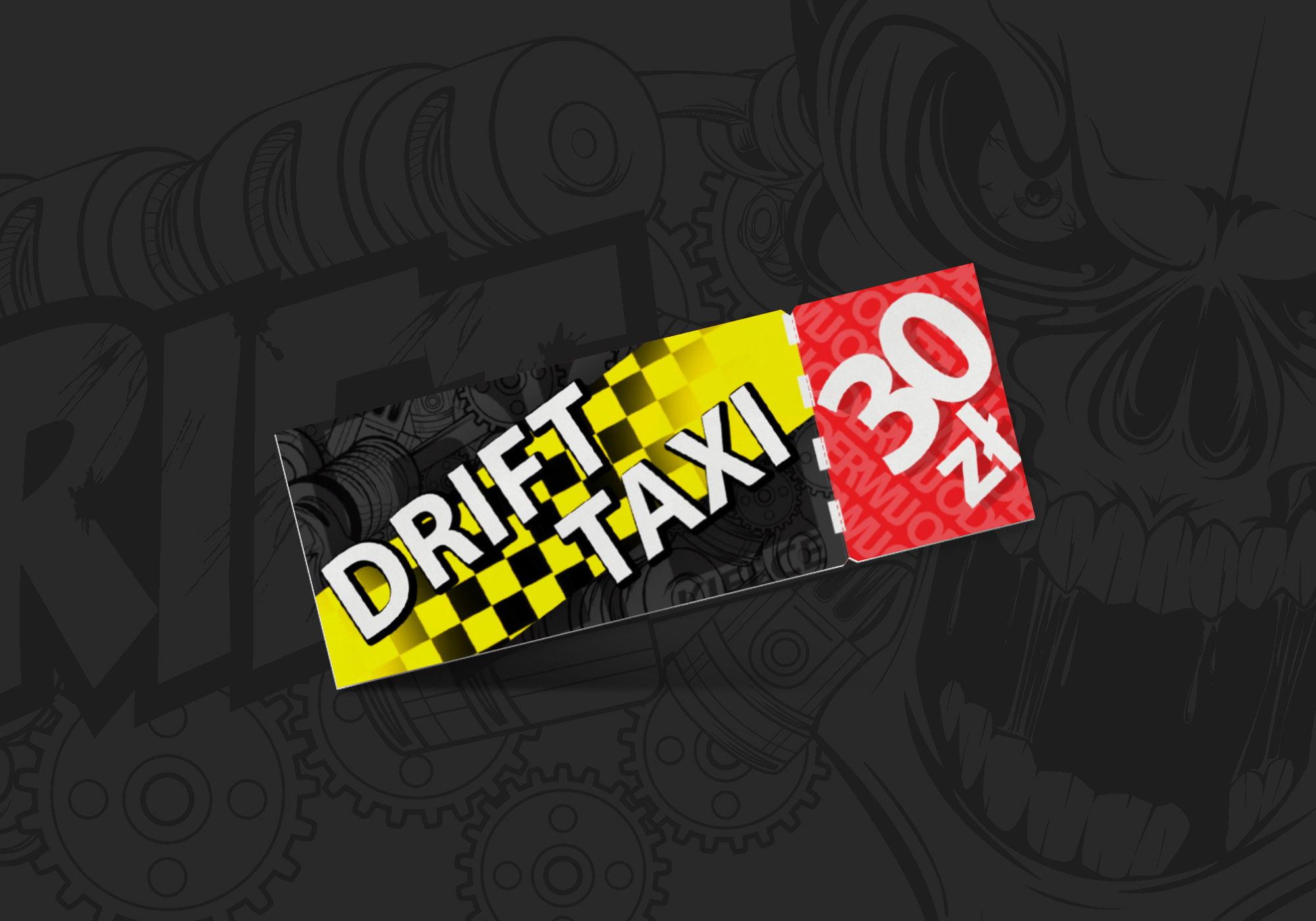 Projekt Bilet DriftTaxi Realizacja Sto15 Studio Piotr Ratuski