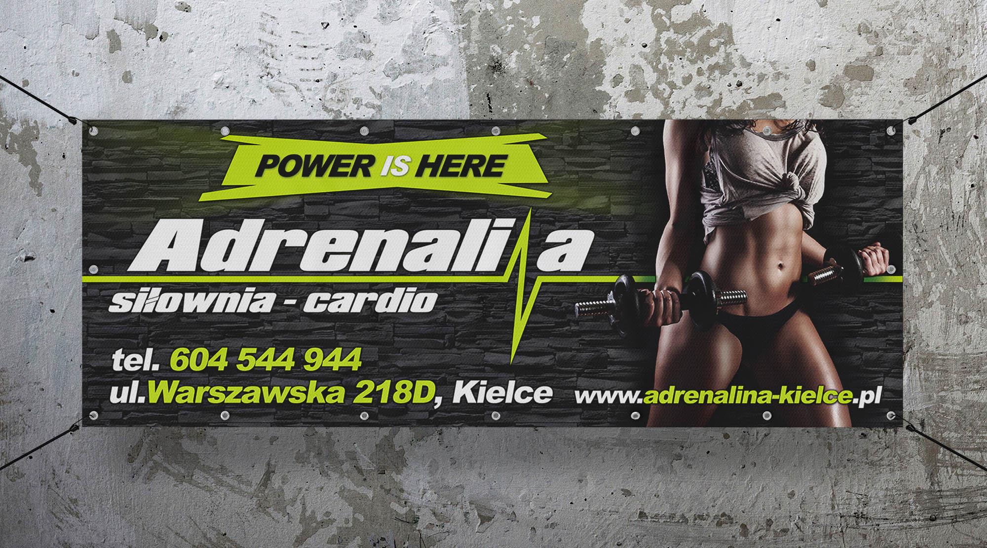 Projekt Baner Adrenalina Realizacja Sto15 Studio Piotr Ratuski