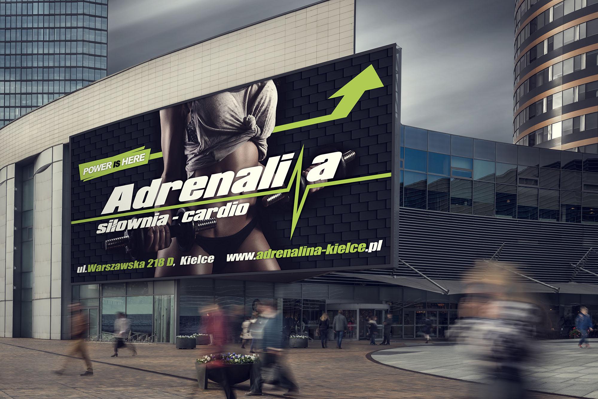 Projekt Billboard Adrenalina Realizacja Sto15 Studio Piotr Ratuski